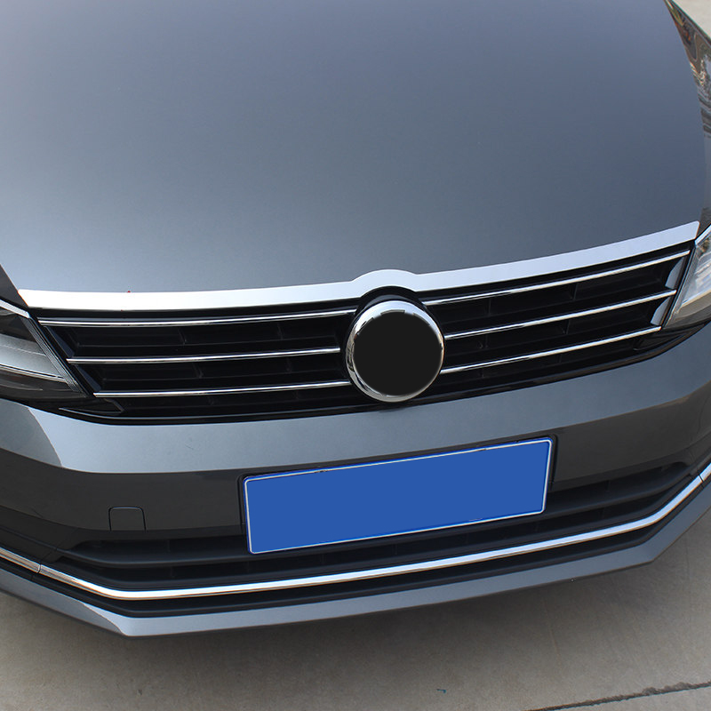 For VW Volkswagen Jetta MK6 2012-2018 Front Hood Bonnet Grille Lip Molding Cover Trim Bar Garnish Accessories Car Styling