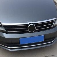 For VW Volkswagen Jetta MK6 2012 2018 Front Hood Bonnet Grille Lip Molding Cover Trim Bar Garnish Accessories Car Styling