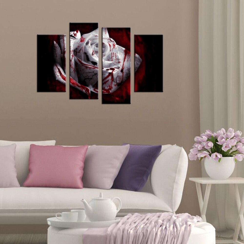 Giclée Landschaft Leinwand Blutige Rose Blume Wand Bilder Wohnkultur ...