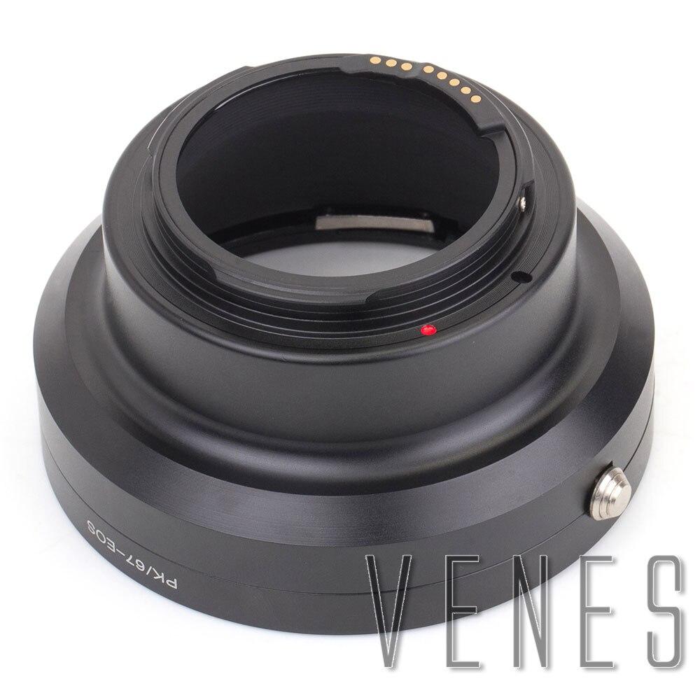 Venes Pour PK-67-EOS GE-1 AF Confirmer Lentille adaptateur de montage-convient à Pentax 67 objectif pour appareil canon EOS Caméra 4000D/2000D/6D II/200D/77D