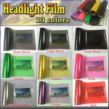 Großhandel 12 Farben 8 Rollen Größe: 30cm * 10 m/roll Auto Auto Licht Scheinwerfer Rücklicht Tint Vinyl Film Aufkleber Freies Verschiffen