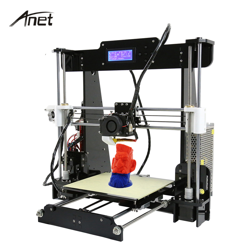 Anet A8 Big Size 3D Printer 220 220 240mm High Quality Precision Reprap Prusa i3 DIY