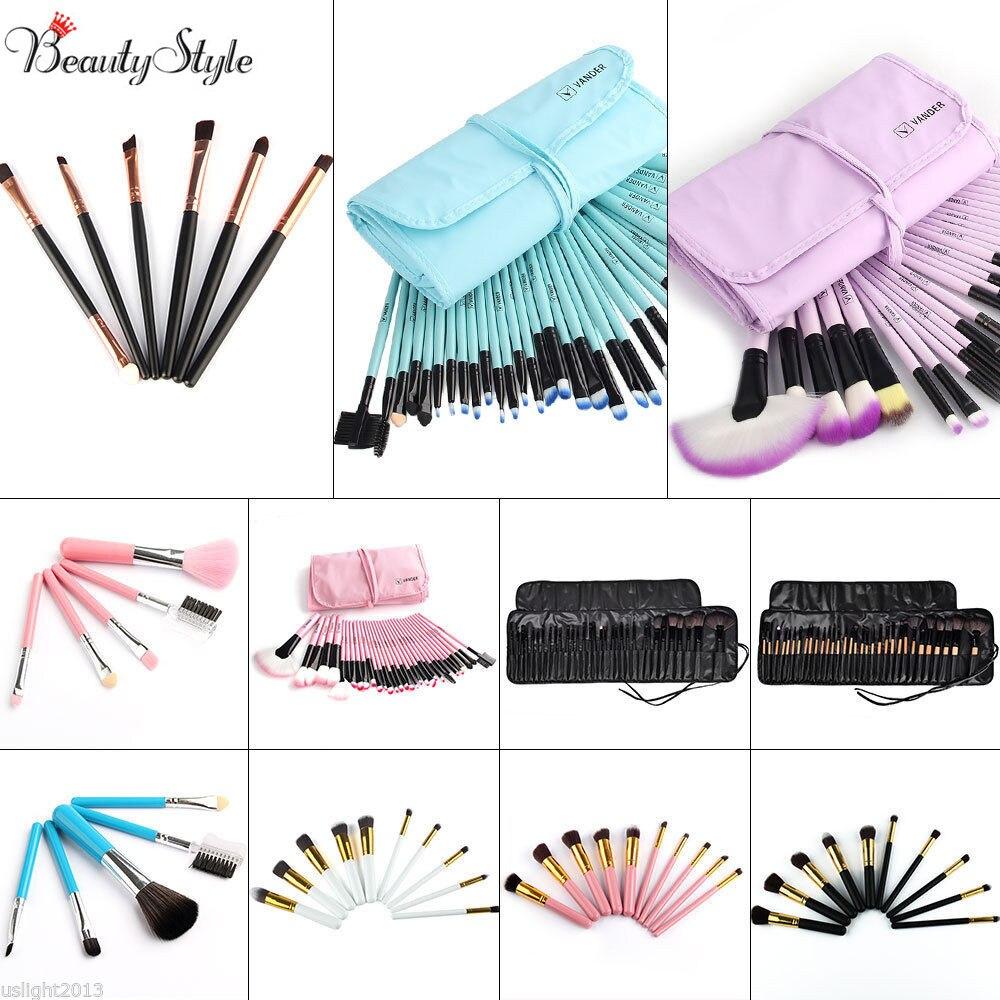 Professional Vander Bag Of Makeup Sets 32/24pcs Make Up Bag Brush Full Cosmetics Brushes Eyebrow Powder Lipsticks Shadows Kits vander 8pcs professional rose pink
