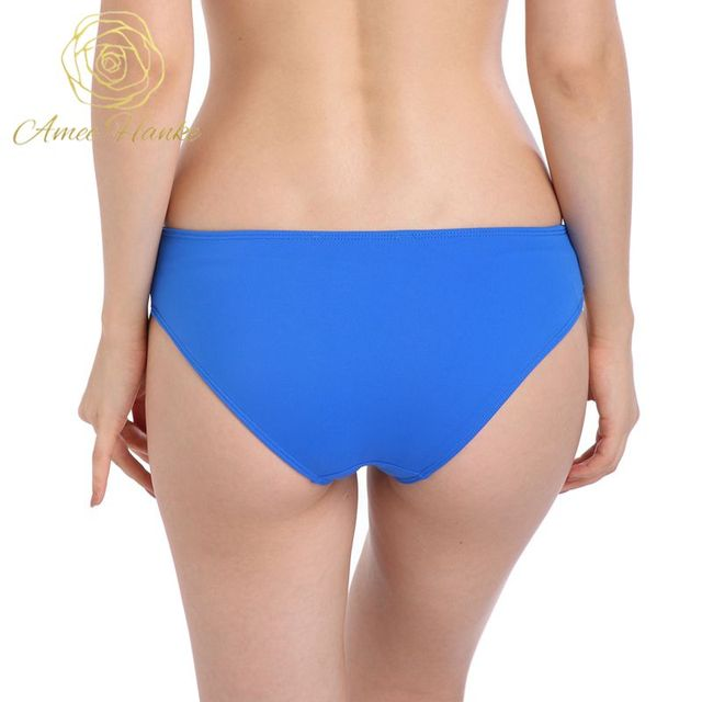 a9ee443e4e 2017 New Style Swimwear Women Bikini Bottom Royal Blue Swimsuit Female  Solid Bikini Bottoms Beach Underwear S/M/L/XL/2XL/3XL