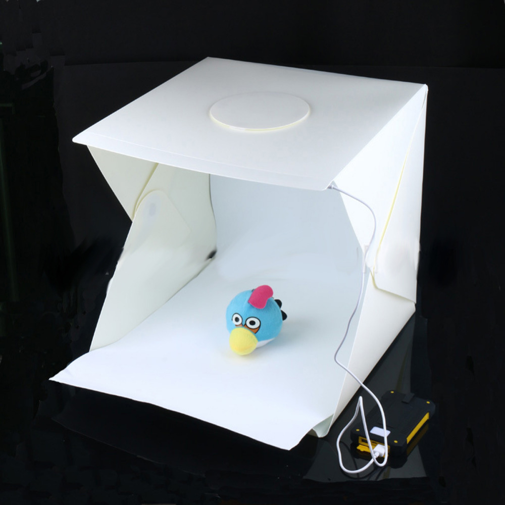 40 x 40 x 40 cm Photo Studio Box Photography Backdrop Built in Light Photo Box