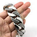 Newest Design 316L Stainless Steel Cool Punk Gothic Snake Skin Silver New Bracelet