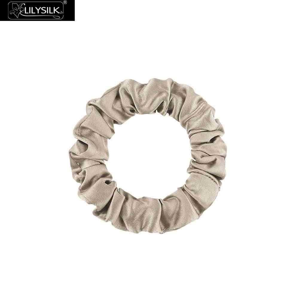LilySilk Hairband Scrunchy di Piccola Dimensione Charmeuse Donne 100 Pura Seta Testa Corda di Gomma Della Ragazza Accessori Morbido di Lusso