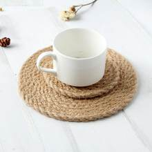Home Textile Tablecloths Convenient Beautiful Pvc Placemats Bamboo Woven Pattern Non-slip Table Mat Dish Bowl Pad Coasters Heat Insulate Lxy9 Au07
