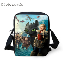 ELVISWORDS How To Train Your Dragon Print Messenger Bag Crossbody Mini Cute Cool Shoulder for Boys and Girls 2019 Fashion