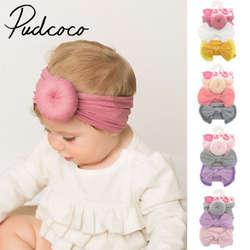 Принцессы для девочек маленьких ободок для волос с бантом, головная повязка эластичный тюрбан головные уборы с бантом головы Обёрточная