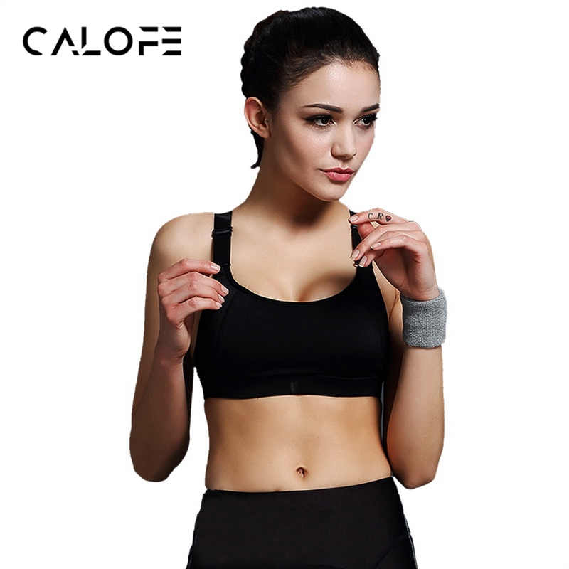 e0406dd54a590 CALOFE Women Sports Bra Yoga Bra Running Gym Fitness Athletic Bras Padded  Push Up Tank Tops For Girls ropa deportiva S-3XL