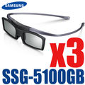 3pcs/lot Shipping 100% New Genuine Original 3D Bluetooth Active Shutter Glasses for Samsung SSG-5100GB With D E ES F H HU Series