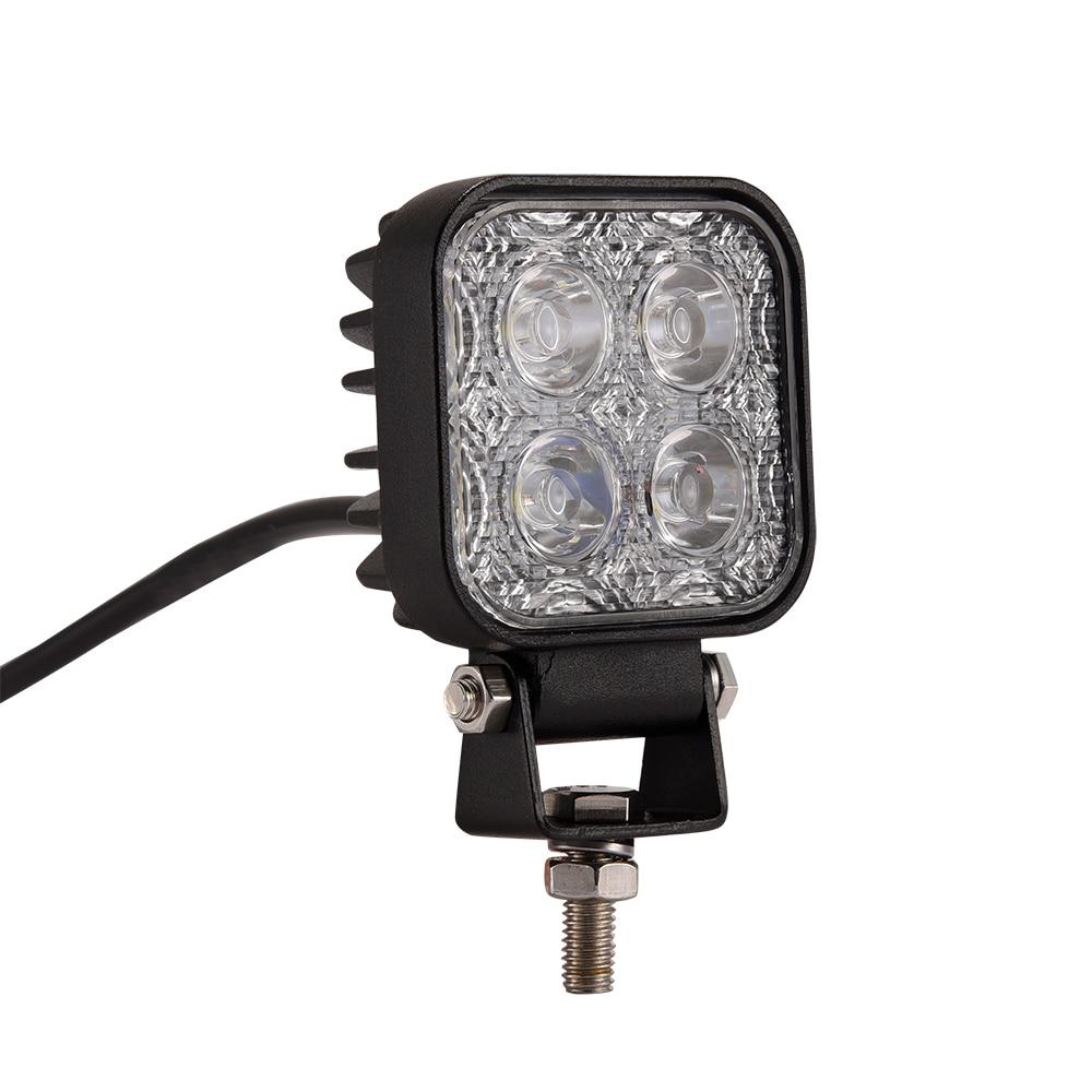 GERUITE 1PCS 12W 4 X 3W Car LED Work Light Square 1200lm As Worklight Flood Light