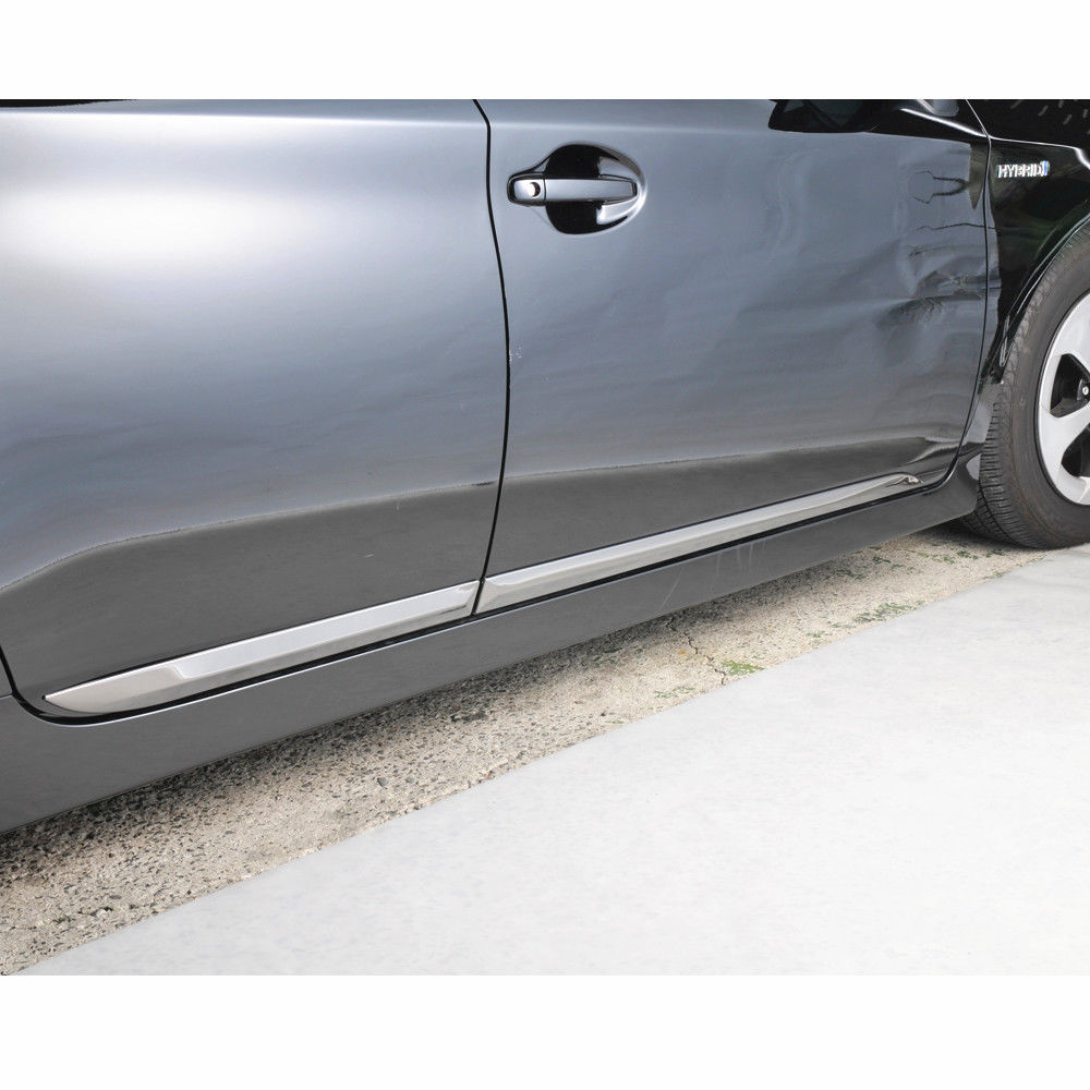 JY 4PCS SUS304 Stainless Steel Door Side Body Molding Trim Car Styling Cover Accessories For Toyota Prius ZVW30
