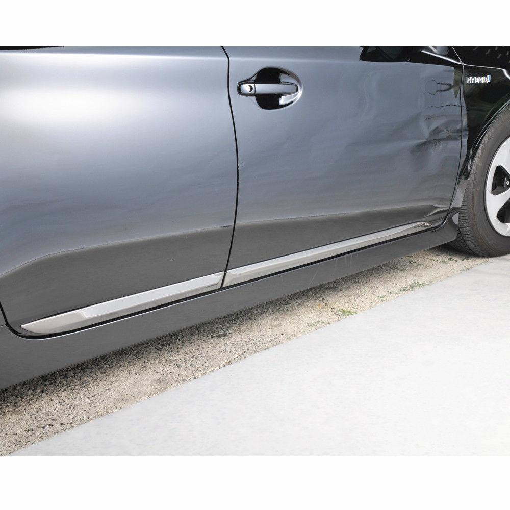 JY 4PCS SUS304 Stainless Steel Door Side Body Molding Trim Car Styling Cover Accessories For Toyota Prius ZVW30 sus304 stainless steel interior door speaker trim car styling cover accessories for mazda cx 5 kf 2nd gen 2017