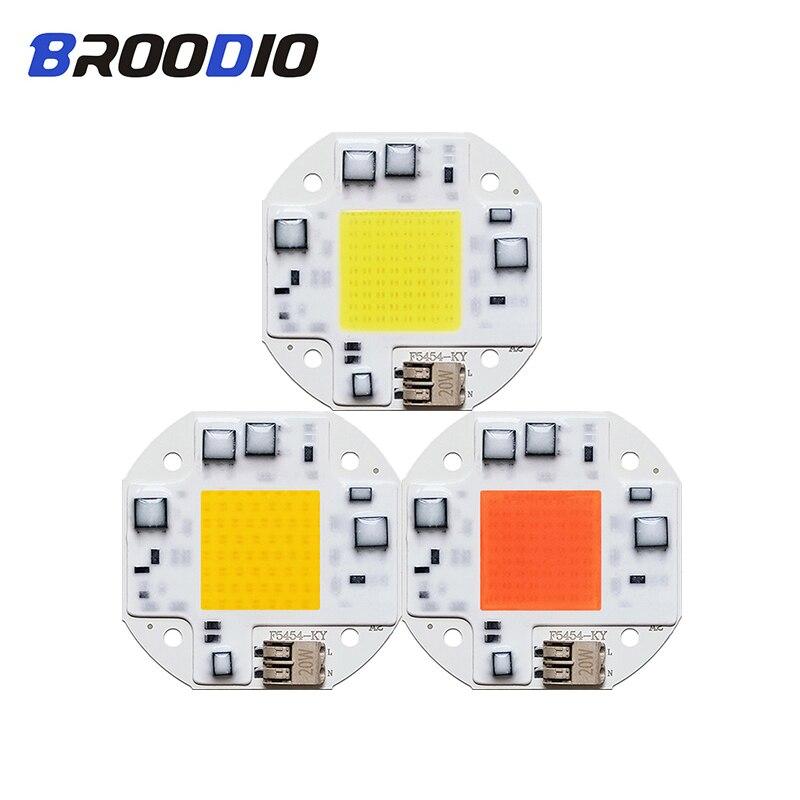 LED Lamp Bulb No Need Driver Chip LED Grow Light AC 110V 220V Lamps 20W 30W 50W Warm White Full Specturm Flood Spotlight LED DIY