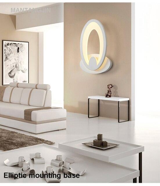Us 5181 47 Offnowoczesna Lampa Sufitowa Led Dla łazienka Sypialnia 11 W ścianie Kinkiet Biały Kryty Lampa Oświetleniowa Ac100 265v Led ściana