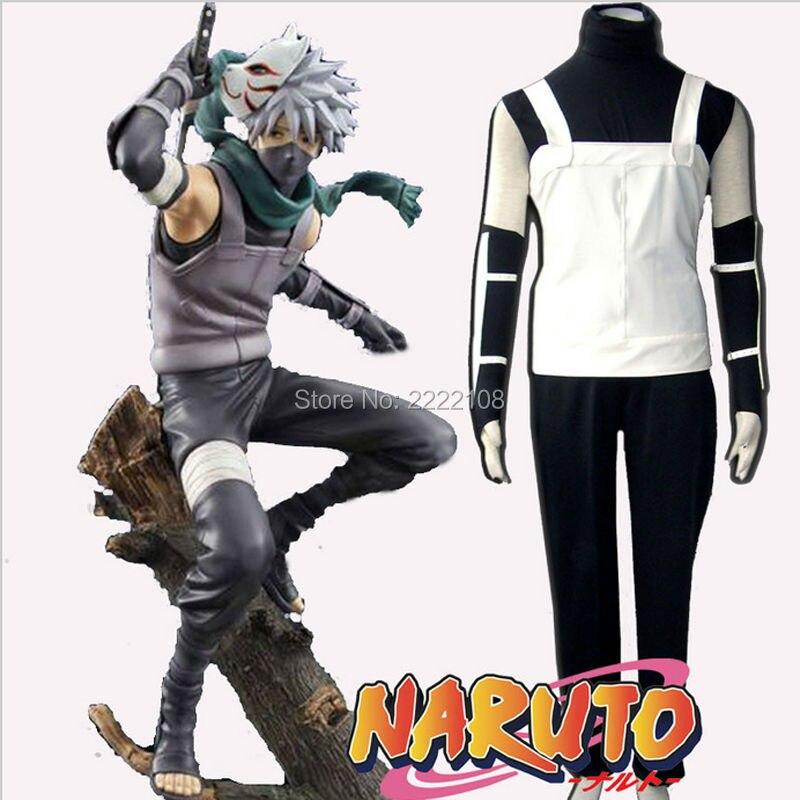 Hokage Ninjia Hatake Kakashi Japanese Halloween Cos Costume Unisex Suits