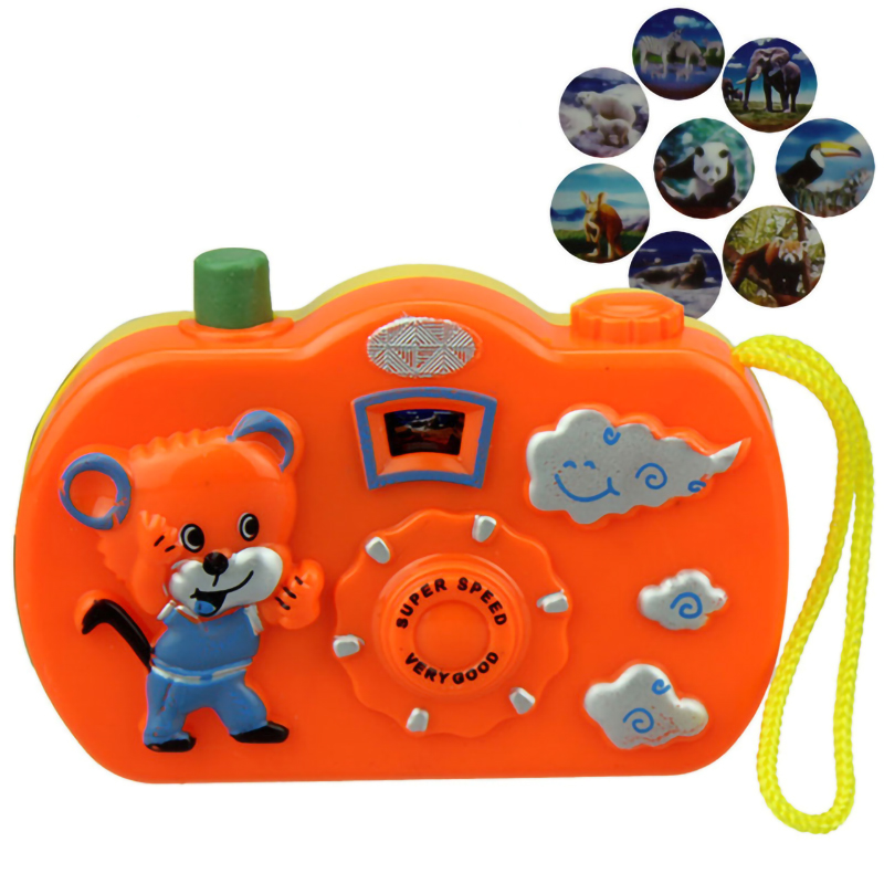 Light Projection Camera Kids Educational Toys For Children Baby Gifts Animals World No Need To Install Battery Random Color