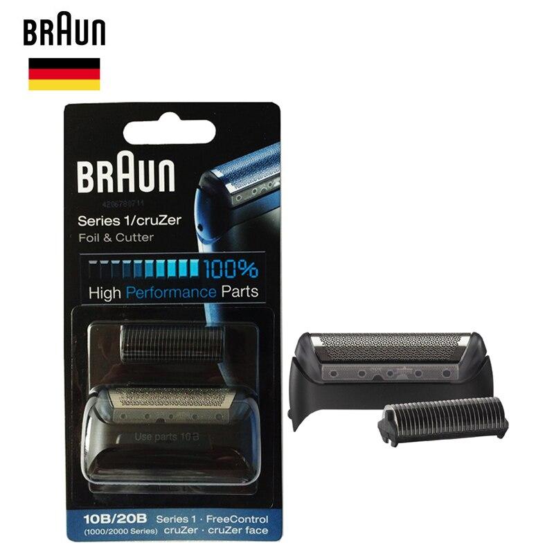 Braun 10B/20B (1000/2000 Série) feuille et Coupe Remplacement partie Haute Performance rasoir lame (180 190 1775 1735 2675 5728 5729)