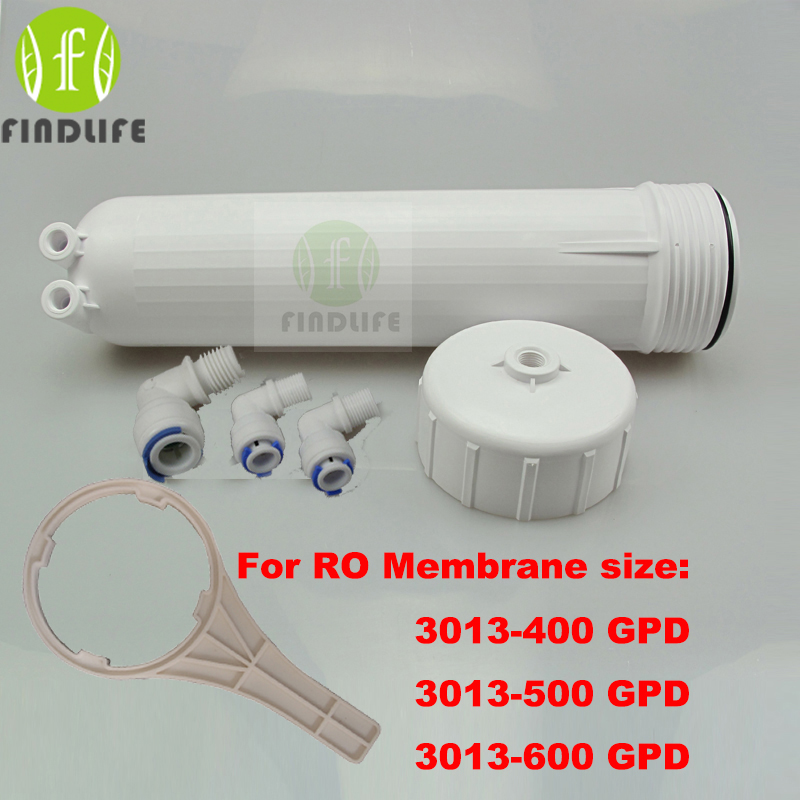 Warter Filter Parts RO Membrane Housing for 3013-400 gpd or 3013-600gpd ro membrane Complete WIth All Fittings And SpannerWarter Filter Parts RO Membrane Housing for 3013-400 gpd or 3013-600gpd ro membrane Complete WIth All Fittings And Spanner