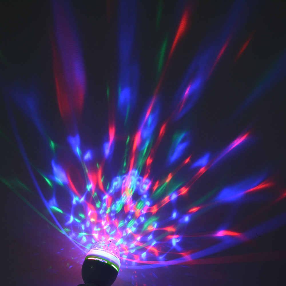 85-265 V RGB DMX LED שלב KTV אור E27 3 W RGB LED הנורה מנורת קישוט נופש ריקוד בר מסיבת דיסקו Crystal Ball אור led