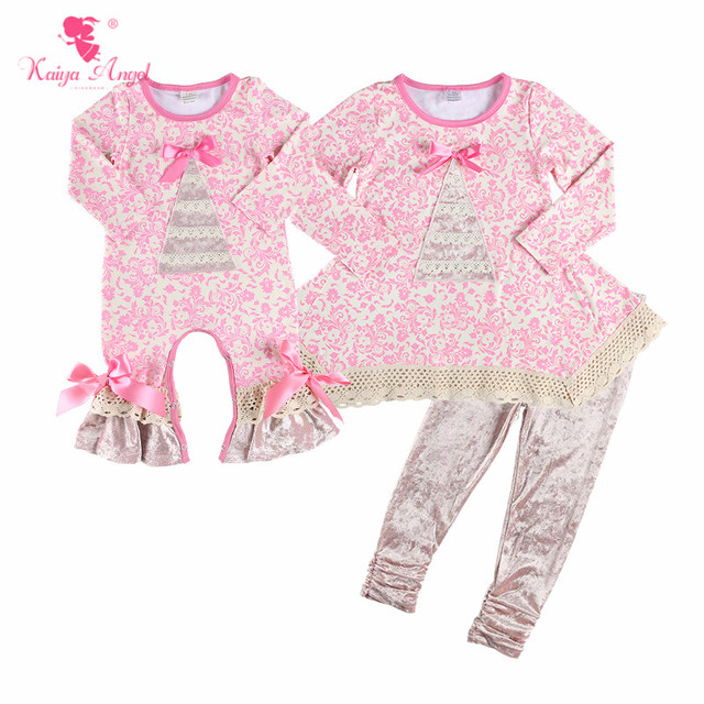 03f8eec891c9 Kaiya Angel Lovely Pink Newborn Baby Bow Rompers Toddler Girls Fall Style Ruffle  Clothes 2018 Factory Wholesale Jumpsuit