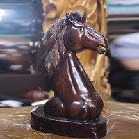 Мьянма палисандр повезло лошадь деревянные украшения Дерево ремесел бизнес подарки
