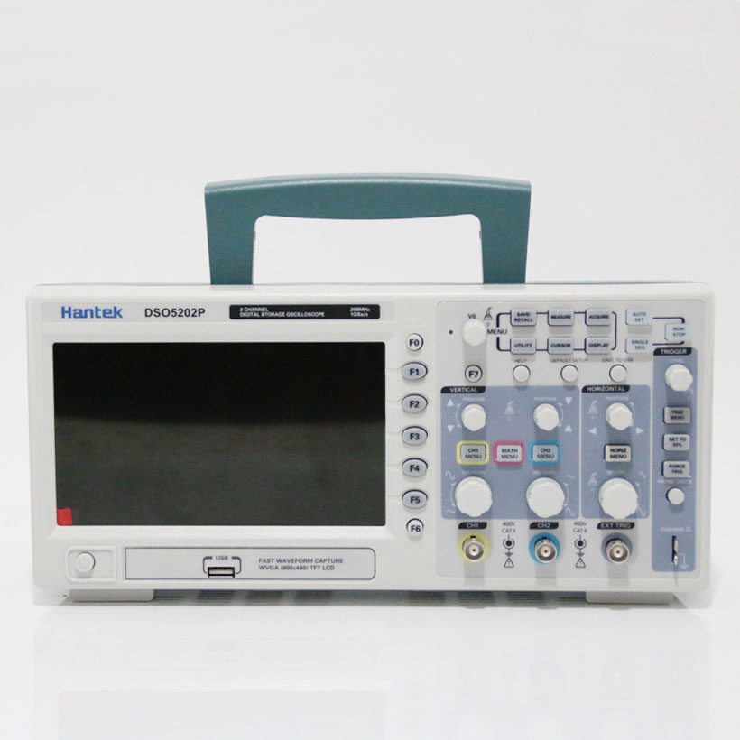Free shipping Hantek DSO5202P <font><b>Digital</b></font> storage <font><b>oscilloscope</b></font> <font><b>200MHz</b></font> 2Channels 1GSa/s 7'' TFT LCD image