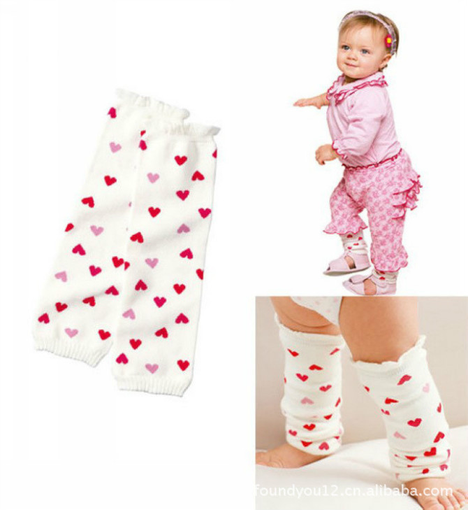 ᓂ2015 Baby Crawling ᐃ Knee Knee Pads Children Girl Striped ...