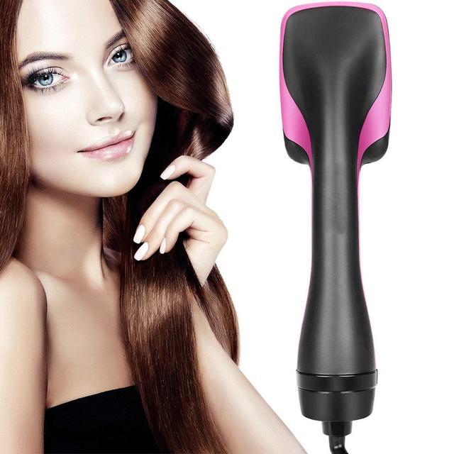 רב תכליתי שלילי יון שיער מייבש ישר שיער מסרק שיער סגנון & מסרק שני באחד חם קר רוח חשמלי מתולתל שיער מברשת
