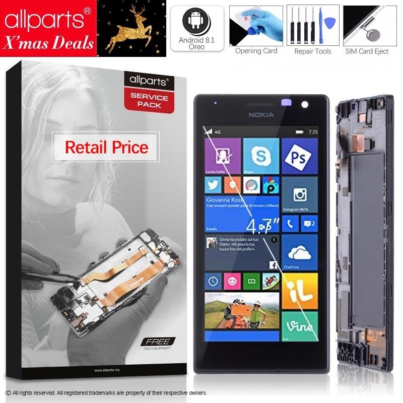 4.7 Оригинальный тачскрин дисплей экран для NOKIA lumia 735 730 сенсорный дисплей Оригинал LCD с тачскрином в рамке замена запчасти 730 RM-1038 Черный