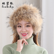Invierno Real Fox piel sombreros y bufanda de invierno 2018 bufandas mujeres  caliente Fox sombrero de piel sólido gorros Mujer g. cd0b36df49e8