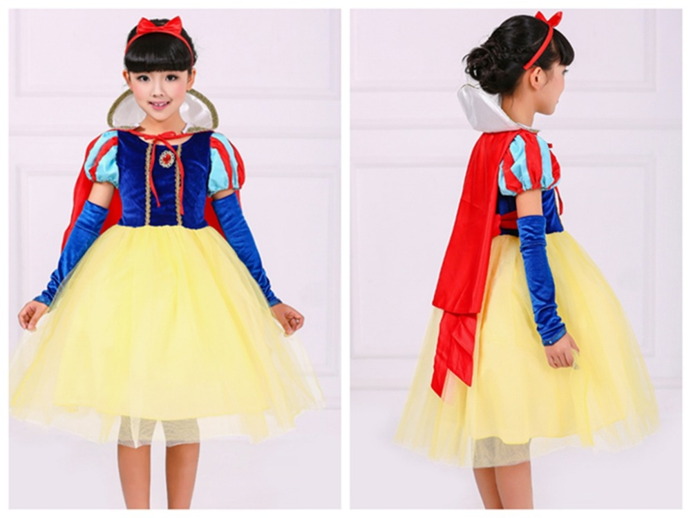 Halloween Christmas cosplay costume princess dress snow white dress girls skirt fairy tale character acting clothing