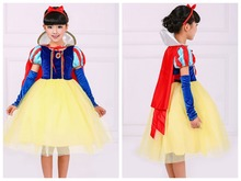 Halloween costume princess dress snwo white girls skirt fairy tale character acting clothing