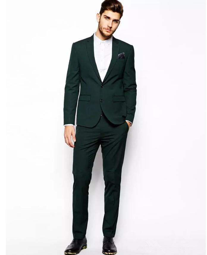 Thorndike 2018 Latest Designs Olive Green Great Sell Mens Suit Formal Slim Fit Tuxedo Custome Homme Suit Men Marriage Groom Wear