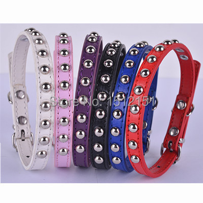 Personalized  Studded Pu Leather Dog Collar Small Pet Products For Dogs