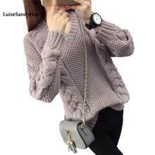 2018 Women Pullover Female Sweater Fashion Autumn Winter Warm Casual Loose Knitted Tops