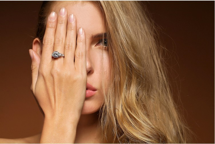 3 Carat Certified Moissanite Ring - Gifts For Her