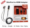 3D 1080P SlimPort to HDMI MHL HDTV Adapter 2M For LG Google Nexus 4 5 7 /G2/G3/Optimus G Pro/G Flex/G pad8.3 For Asus