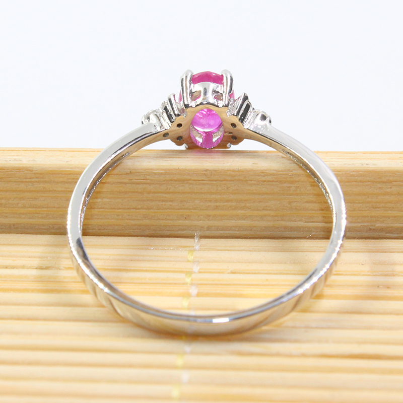 Image 5 - Real 925 silver gemstone ring for engagement  0.5 ct natural ruby  silver ring solid silver ruby ring romantic gift for girlgemstone  rings silvergift for girlfriendgift gifts