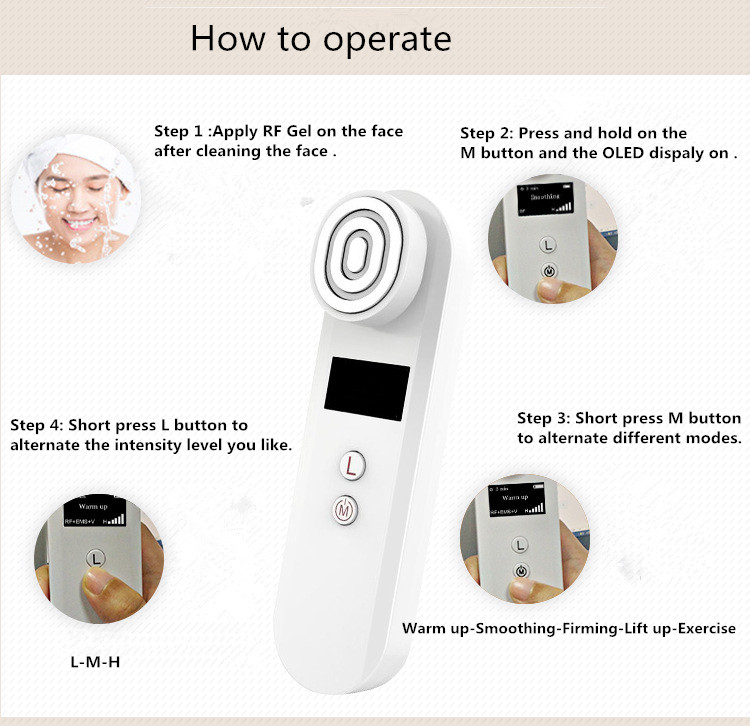 RF EMS Vibration Thermage Machine Radio Frequency Wrinkle Removal RF Skin Tightening Face Lifting rejuvenation Beauty Massager