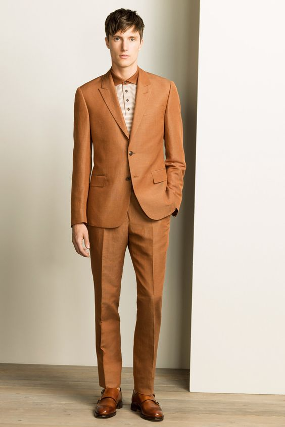 2017 custom made champagne tan groom tuxedos slim fit mens wedding suits handsome casual man suit