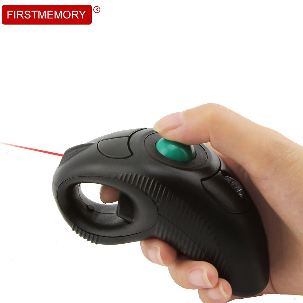 2.4Ghz Wireless Air Mouse Laser Pointer Computer Mouse Handheld Trackball Mause With USB Receiver For Teacher PPT Presentation