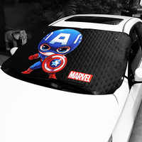 Marvel Style Heated Windshield Sunshade Windscreen Cover Sun Shade Auto Sun Visor Car-covers Car Solar Protection