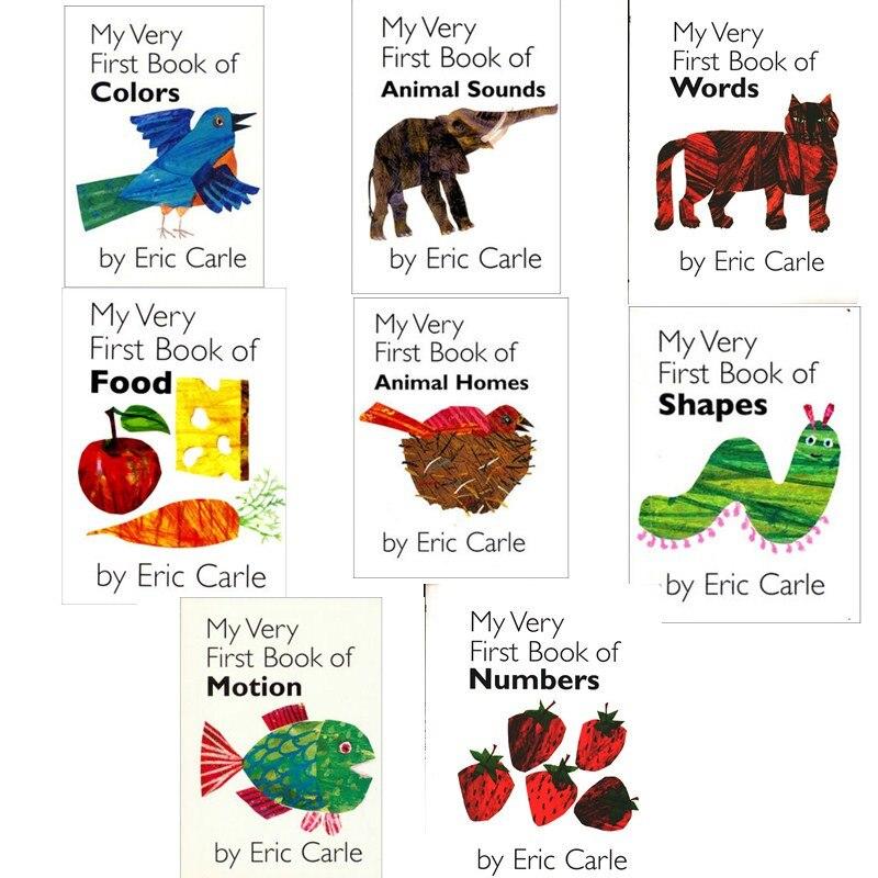 8 ensembles mon tout premier livre d'eric Carle éducatif anglais livre d'images apprentissage carte livre d'histoire pour bébé enfants cadeaux