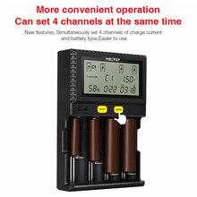 Оригинальный Miboxer C4 ЖК-дисплей Smart Батарея Зарядное устройство для литий-ионных IMR INR ICR LiFePO4 18650 14500 26650 батарейки ААА 100- 800 мАч