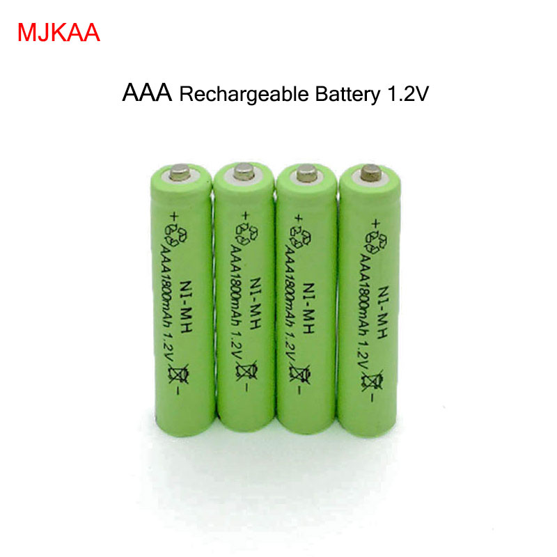 4pcs/lot New AAA 1800mAh NI-MH 1.2V Rechargeable Battery AAA Battery 3A 7# rechargeable battery NI-MH battery for camera,toys new for 2016 2 pcs aaa 3a 1800mah 1 2v ni mh rechargeable battery