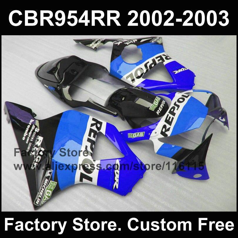 fairing kit for HONDA CBR900RR fireblade CBR 954 2002 2003 CBR954 02 03 sky blue Repsol
