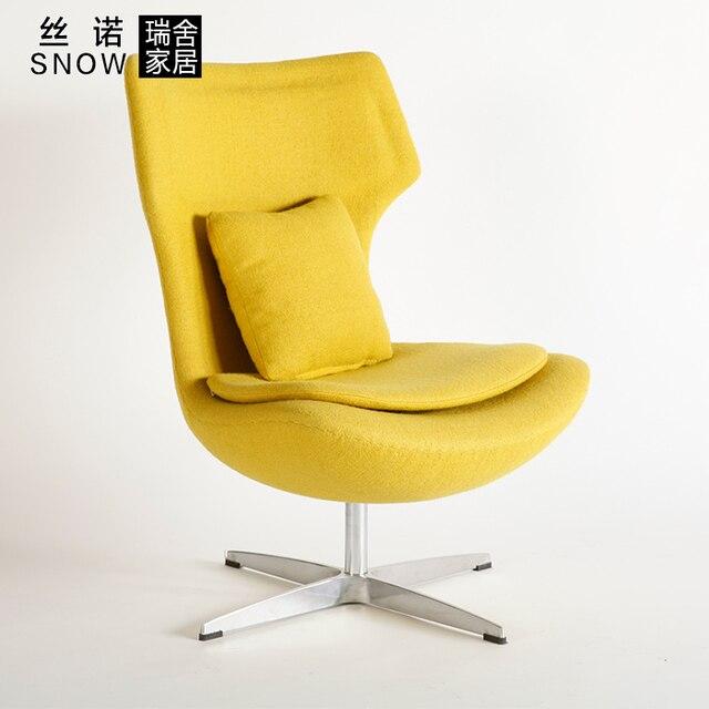 Schweizer Runde Einzigen Kleinen Wohnung Wohnzimmer Sofa Stuhl Stilvolle Einfachheit Stoff Sthle Sessel